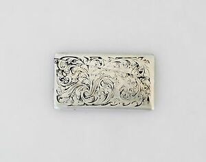 Blackinton Sterling Silver Acid Etched Card Case