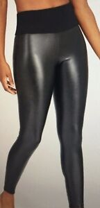 Assets Spanx Leggings Size Medium All Over Faux Leather 20258R Black D11
