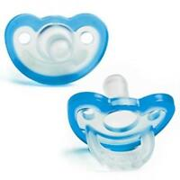 Double Pack 3m+ Blue RaZbaby JollyPop Baby Pacifier Plus