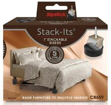 "Slipstick CB659 1"" (25mm) Stack-Its Furniture & Bed Risers (Set of 8)"