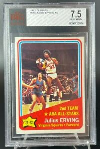 1972 Topps Julius Erving All Stars #255 BGS BVG 7.5 LOW population nice card.
