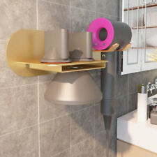 Home Hair Dryer Holder Gold Wall Mount Hanger For Dyson Supersonic Hair Dryer