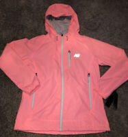 NEW W/ Tags NEW BALANCE Women's Hooded Jacket Zip Pockets Pink Size Medium