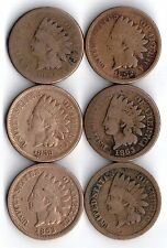 U.S. INDIAN HEAD PENNY COLLECTION RARE DATES YOU GRADE
