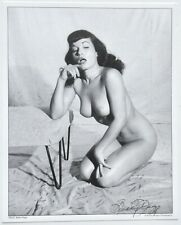 NOS Nude Seductive Bettie Page Pin-Up Lithograph Hand Signed by Bunny Yeager