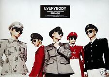 """SHINEE """"EVERYBODY"""" THAILAND PROMO POSTER - Group Dressed In Uniforms & Hats"""