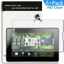 "6-Pack Blackberry Playbook LCD Screen Protector Bubble Free adhesive 7"" Tablet"
