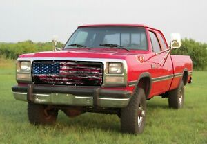 GrillAdz® Premium 1980-93 Dodge Ram Old Glory Bug Screen BS903-SMK