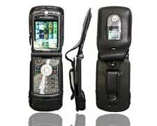 Smartphone Case for Motorola Razr V3 Leather-Case with belt clip Protective Cove