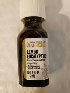 Aura Cacia Pure Essential Oil Lemon Eucalyptus  0.5 fl oz (15 mL)