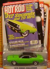 GREEN 1970 DODGE CHALLENGER R/T GREENLIGHT 1:64 SCALE DIECAST METAL MODEL CAR
