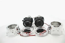 H1/H4/H7 HID Bi-xenon Projector Lens LHD Headlight with Shroud Red Light Color