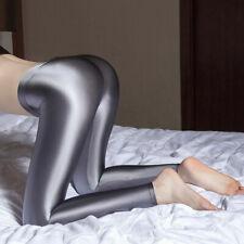 Women Satin Shiny Spandex Leggings High Glossy Nylon Stretchy Dance Disco Pants