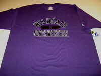 Northwestern University Wildcats Russell Athletic Purple T-Shirt New! NWT XL