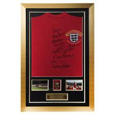 signé par 10 Charlton Hurst et boule 1966 Angleterre Chemise 1966 COUPE DU MONDE