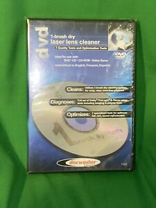 NEW CD & DVD Laser Lens Cleaners (1-brush; Dry) Discwasher, Fast FREE Shipping