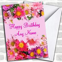 Pretty Flowers Personalized Birthday Card