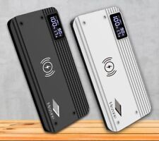 Dual USB Qi Wireless 10000mAh Power Bank Fast Charging Portable Battery Charger