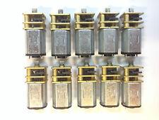 Micro DC Gear Motor, GM12, 12v, 50:1, Tang Shaft,  Lot Of Ten