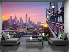 Philadelphia,Purple Sunset Wall Mural Photo Wallpaper GIANT DECOR Paper Poster