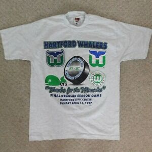 """Men's L Large Hartford Whalers """"Thanks for the Memories"""" Shirt"""