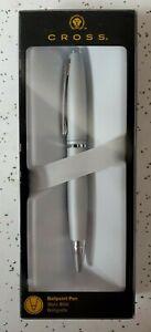 Cross® Calais™ Ballpoint Pen, Medium Point, 0.7 mm, Satin Chrome Barrel, Black