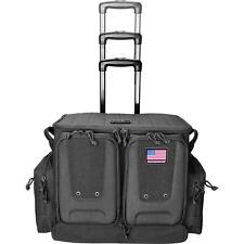 G-Outdoors Tactical Rolling Range Bag, Holds Up To 10 Handguns, Black