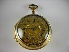 Antique very rare English Verge Fusee key wind pocket watch. Runs great! c.1690!