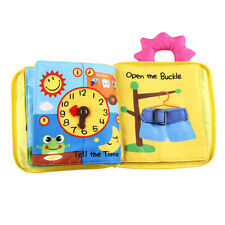 6 Theme 3D Baby Soft Non-Toxic Cloth Books Toddlers Cognize Reading Toy