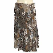 Womens 20W Long Skirt Sheer Lined Alfred Dunner NWT Animal Stripes Swirl Lined