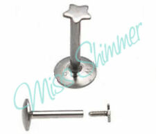 16g INTERNALLY THREADED LABRET SURGICAL STEEL MONROE TRAGUS LIP HELIX BAR
