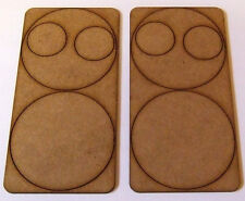 2mm MDF 60mm Round Weapon Bases for 2 Crew Set of 2 Suitable for Bolt Action