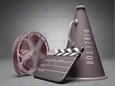 PHOTO FILM DIRECTOR EQUIPMENT CLAPPERBOARD REEL MEGAPHONE ART PRINT MP3919B