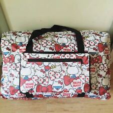 Hello Kitty Red Apple Travel Big Foldable Waterproof Luggage Bag Carry-On Bag