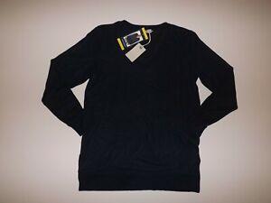 LUCKY BRAND Navy Blue Sweater L/S Sweatshirt V-Neck Size XL NWT Womens