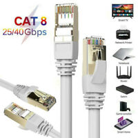 Cat8 RJ45 Network Ethernet Cable Gigabit High Speed 40Gbps SSTP LAN Lead Wire