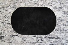"#5113B 7"" Lot 2Pcs Black Oval Elbow Knee Patches Repair Appliqué"