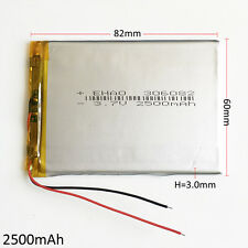 2500mAh 3.7V Lipo polymer Rechargeable Battery For PAD mobile phone DVD 306082