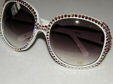 LARGE SUNGLASSES AUSTRIAN CRYSTAL AB AURORA BOREALIS WILL MATCH ANY COLOR GLITZ!