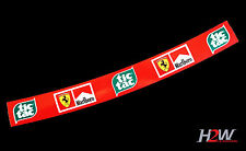 F1 Helmet Visor Sticker Schumacher TIC TAC Ferrari F1 Motorsport Karting