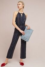 62fad8f7d1b3 New ListingNWT Dolan Anthropologie Navy Blue Striped Halter Jumpsuit Size XS   178