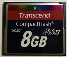 Transcend Compact Flash Card 8GB 400x UDMA