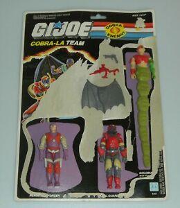 Lot 1987 GI Joe Cobra La Team Royal Figure & Accessory Set Uncut File Card Back