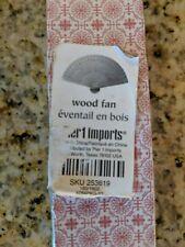(2C2) Folding Hand Held Plain Wooden Fan Japanese Fan Pier 1 Imports free ship