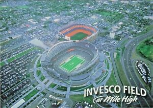 Denver Broncos Football at Invesco Field at Mile High next to Mile High Stadium