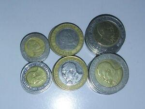 Kenya 5 sets of 6 bi-metallic coins = 30 coins dealer lot