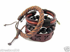 Streetsoul 17 Leather Bands Men's Accessories Wrist Bands Value For Money Pack.