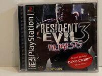 PS1 Resident Evil 3: Nemesis - Black Label - COMPLETE CIB-Very CleanDino Crisis