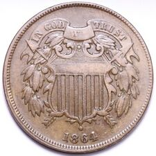1864 2 Cent Piece CHOICE VF+ FREE SHIPPING E560 ACN