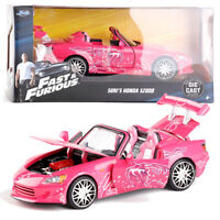 JADA 1:24 FAST AND FURIOUS SUKI'S HONDA S2000 DIECAST PINK CAR VEHICLE TOY GIFT